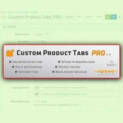 Скачать Дополнительные Вкладки | Custom Product Tab PRO | Extra Tab на сайте rus-opencart.info