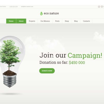 Скачать Eco Nature–Environment & Ecology WordPress Theme на сайте rus-opencart.info