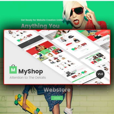 Скачать MyShop-multi layout fashion OpenCart theme на сайте rus-opencart.info