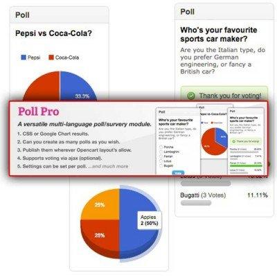Скачать Модуль опросов   Poll Pro на сайте rus-opencart.info