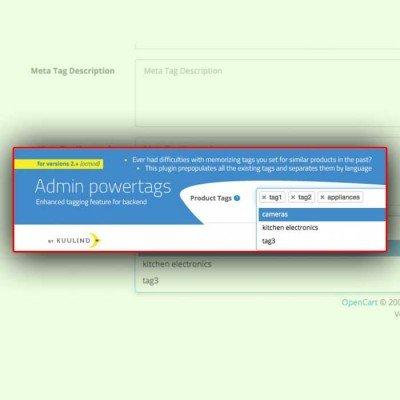 Скачать Создание, автозаполнение тегов | Admin PowerTAGs 2.0 (tags autocomplete) на сайте rus-opencart.info