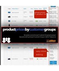 Цены для групп покупателей