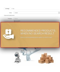 Рекомендуемые товары при отсутствии результатов поиска