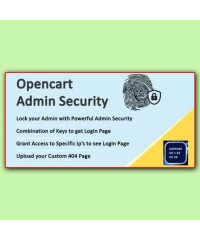 Защита магазина | Admin Security Opencart