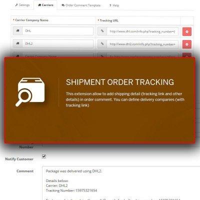 Скачать Отслеживание товара | Shipment Order Tracking на сайте rus-opencart.info