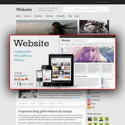 Скачать Website-Responsive WordPress Theme на сайте rus-opencart.info