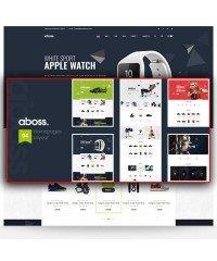 Aboss- шаблон для спортивного магазина