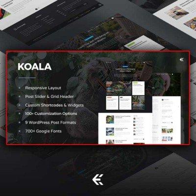 Скачать Koala - Responsive WordPress Blog Theme на сайте rus-opencart.info