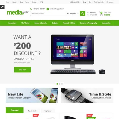 Скачать MediaCenter-Electronics Store Wordpress Theme на сайте rus-opencart.info