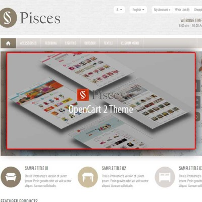 Скачать Pisces-Multipurpose Responsive OpenCart Theme на сайте rus-opencart.info