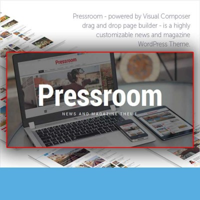 Скачать Pressroom-News and Magazine WordPress Theme на сайте rus-opencart.info
