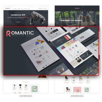 Скачать Romantic-Multipurpose Responsive OpenCart Theme на сайте rus-opencart.info