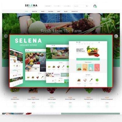 Скачать Selena-Organic Responsive Opencart Theme на сайте rus-opencart.info