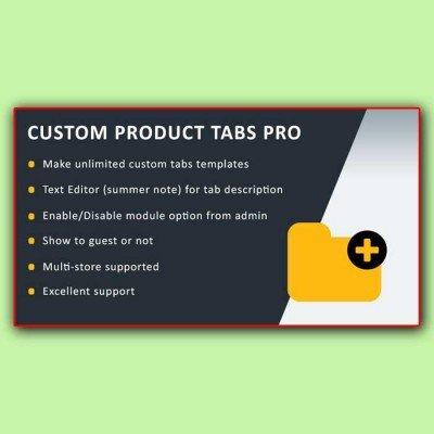 Скачать Custom Product Tabs Pro | Пользовательские вкладки, табы на сайте rus-opencart.info