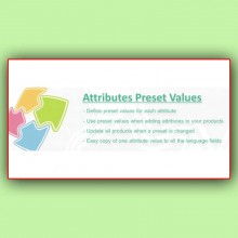 Attributes Preset Values | Предустановленные значения атрибутов