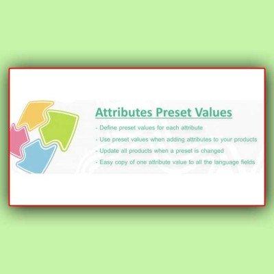 Скачать Attributes Preset Values | Предустановленные значения атрибутов на сайте rus-opencart.info