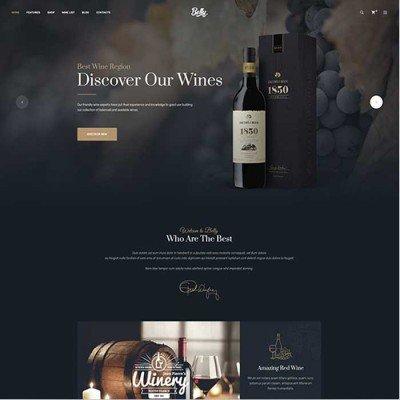 Скачать Belly- Шаблон вина, напитков, продуктов на сайте rus-opencart.info
