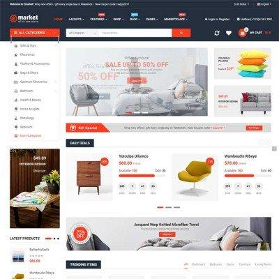 Скачать eMarket - The Multi-purpose MarketPlace OpenCart 3 Theme на сайте rus-opencart.info