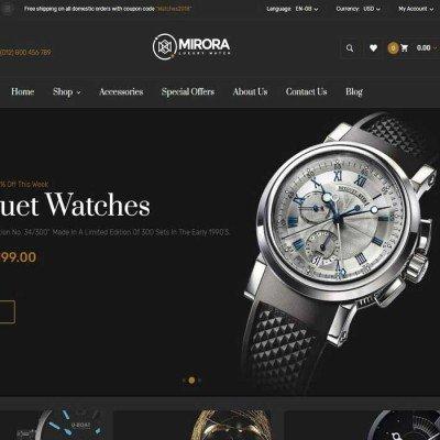 Скачать Mirora - Watch & Luxury Store Opencart Theme на сайте rus-opencart.info