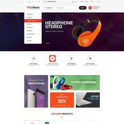 Скачать ClickBoom- Адаптивный шаблон электроники на сайте rus-opencart.info