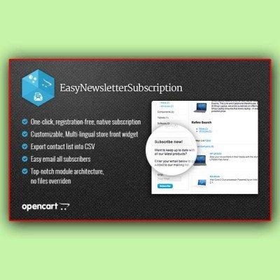 Скачать Easy Newsletter Subscription | Подписка на рассылку новостей на сайте rus-opencart.info