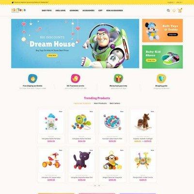 Скачать Kid Toys- Шаблон детских игрушек на сайте rus-opencart.info