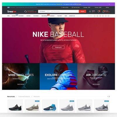 Скачать Sneaker-Shoes Responsive OpenCart Theme на сайте rus-opencart.info