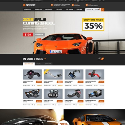 Скачать Xspeed - Accessories Car Opencart Theme на сайте rus-opencart.info
