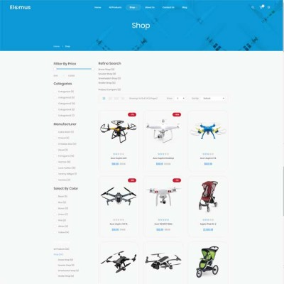 Скачать Elomus-Single Product OpenCart Theme на сайте rus-opencart.info