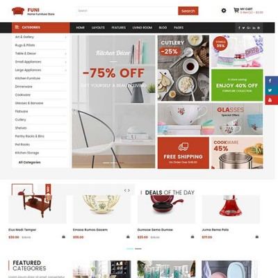 Скачать Funi-Multipurpose OpenCart Theme | Многоцелевой шаблон Opencart на сайте rus-opencart.info