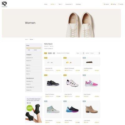 Скачать Raavin-Адаптивный шаблон обуви Opencart на сайте rus-opencart.info