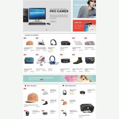 Скачать SarahMarket-Large Store OpenCart Theme на сайте rus-opencart.info