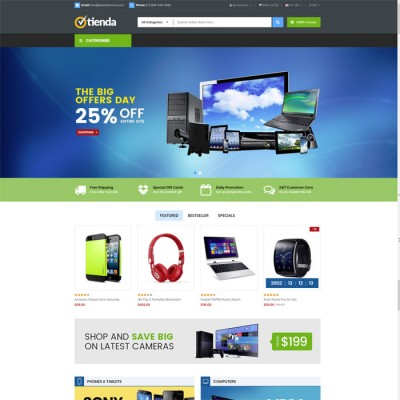 Скачать Tienda - Technology OpenCart Theme на сайте rus-opencart.info