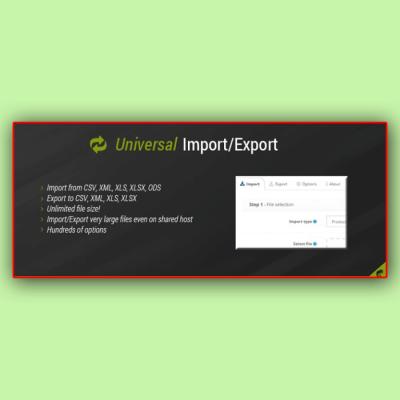 Скачать Universal Import | Export Pro на сайте rus-opencart.info