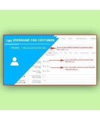 Username for customer | Имя пользователя для клиента