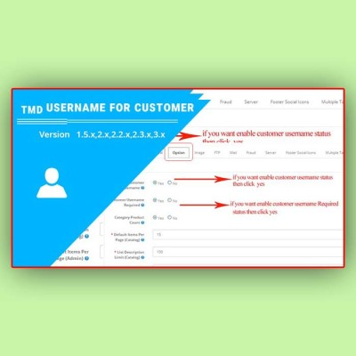 Скачать Username for customer | Имя пользователя для клиента на сайте rus-opencart.info