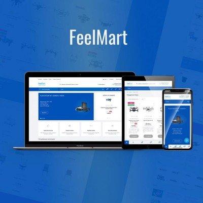Скачать FeelMart - адаптивный универсальный шаблон на сайте rus-opencart.info