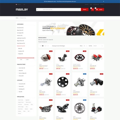 Скачать Mazlay-Car Accessories OpenCart Theme на сайте rus-opencart.info