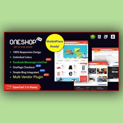 Скачать ONESHOP- MULTIPURPOSE RESPONSIVE OPENCART 3 THEME на сайте rus-opencart.info