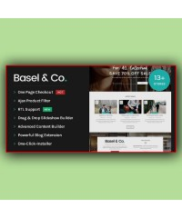 Basel-Lightweight Yet Powerful Opencart Theme
