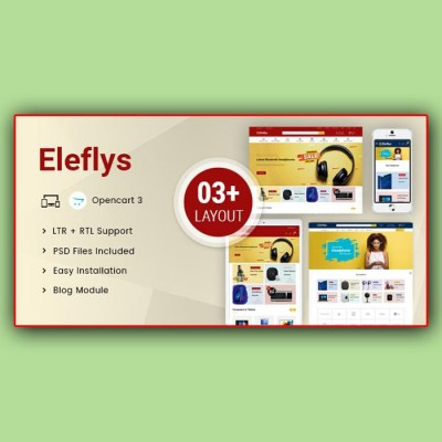 Скачать Eleflys-Mega Electronics OpenCart 3.x на сайте rus-opencart.info