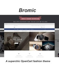 Bromic - A superchic OpenCart fashion theme