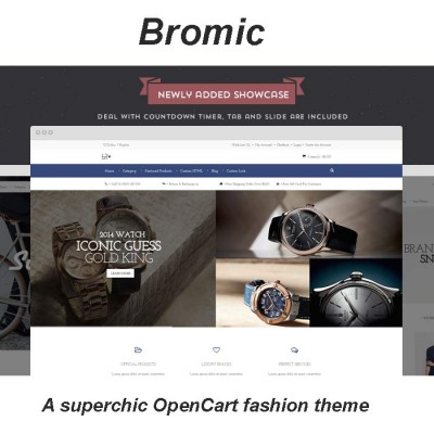 Скачать Bromic - A superchic OpenCart fashion theme на сайте rus-opencart.info