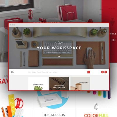 Скачать Ranger-A sublime stationery OpenCart theme на сайте rus-opencart.info