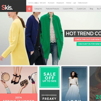 Скачать Skis-Trendy Opencart theme for online store на сайте rus-opencart.info
