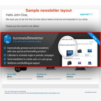 Скачать Automated Newsletter на сайте rus-opencart.info