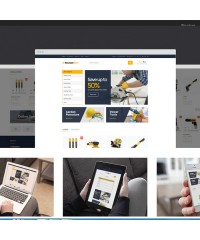 Structure-Business construction OpenCart theme
