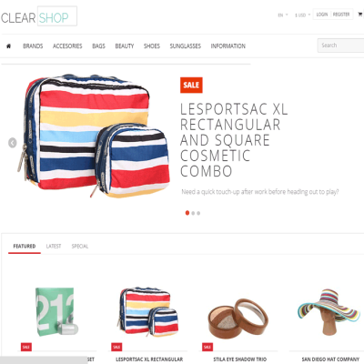 Скачать Clearshop - Responsive OpenCart theme на сайте rus-opencart.info