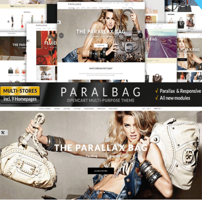 Скачать Opencart Fashion Bag Store - Parallax на сайте rus-opencart.info