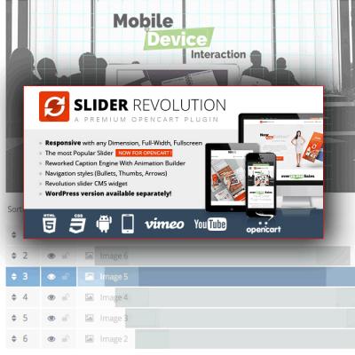Скачать Slider Revolution Responsive Opencart Module на сайте rus-opencart.info